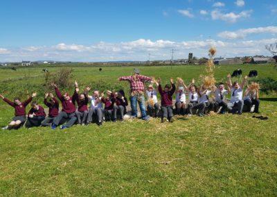 Building a scarecrow for our school garden